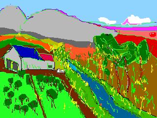 のどかな農村風景