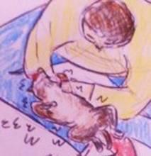 雑種犬リリーのマッサージ
