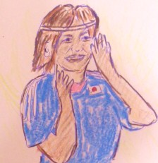 ワライカワセミじゃなくて、笑う川澄選手