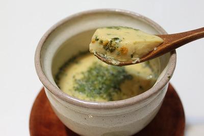 雲丹と青のりの茶碗蒸し(元)
