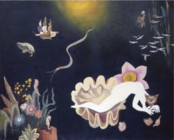 古賀春江 深海の海