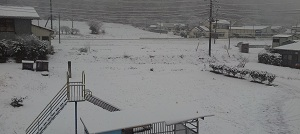 2階からの雪景色