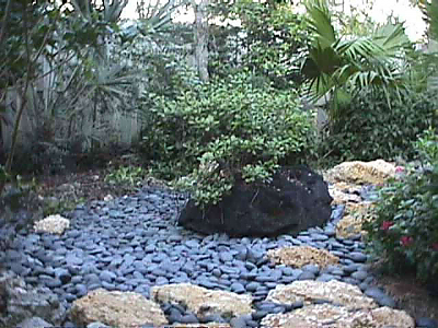 River Rock Flower Bed Designs Home Design Inside