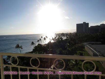 2012年6月 Castle-Waikiki Shore_1 Bedroom Deluxe Ocean View-Lanai