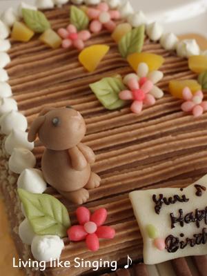 ピアノ型ケーキ マジパン②