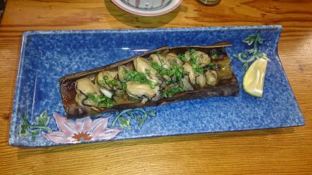 牡蠣の昆布締焼