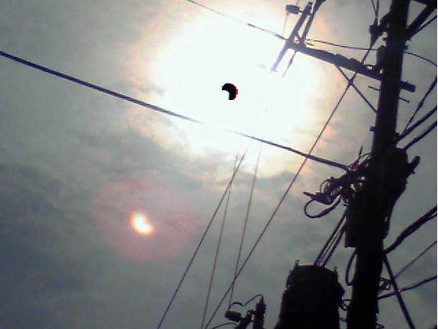 日食 携帯