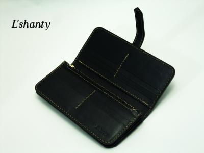 L'shanty ベルトタイプの長財布 開いたところ