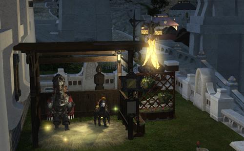 ハウジング 庭(夜)-チョコボ厩舎