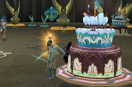 AION3周年ケーキ