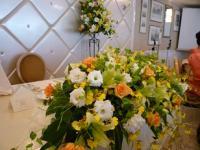結婚式 披露宴会場 テーブル花2