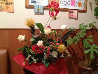 4周年のお花