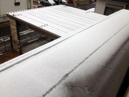 屋根の上はしっかり積雪しています