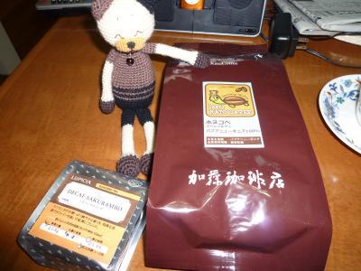 コーヒーとデカフェ・さくらんぼ(紅茶)