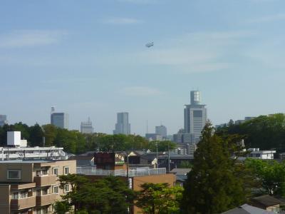 労災病院・4階の景色・飛行船