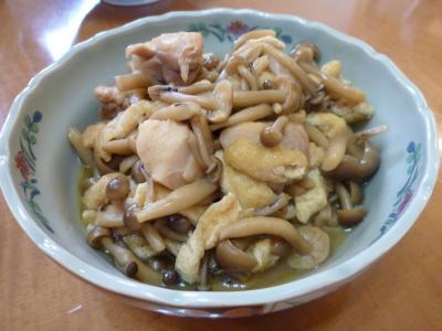 しめじ・油揚げ・鶏肉の煮物