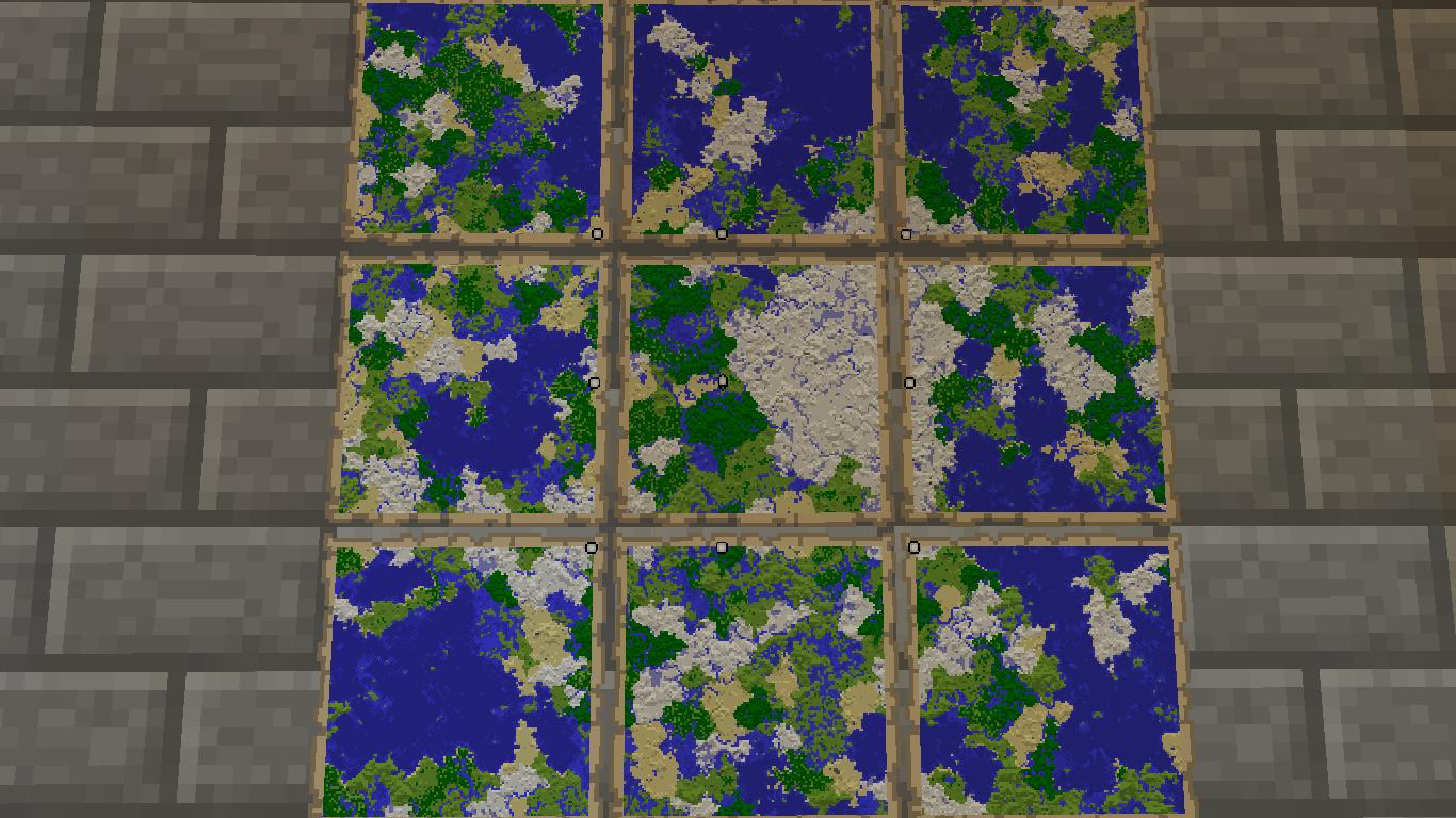 Minecraftマップ埋め完了1