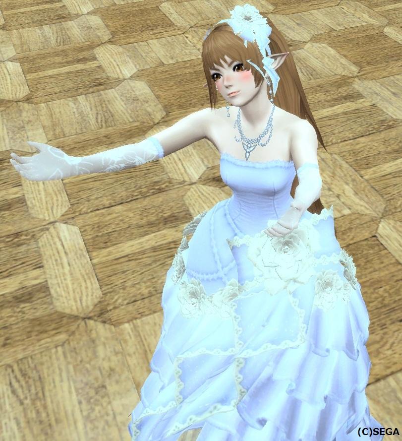 ブルーウェディングドレス