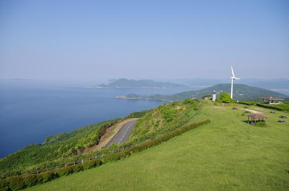 4千畳敷の風車と