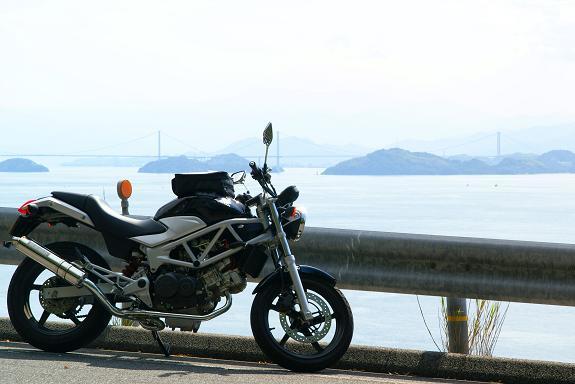 11来島海峡大橋を眺める