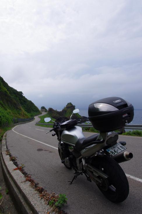 8日本海沿いの広々としたワインディング