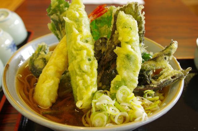 17天ぷら蕎麦♪