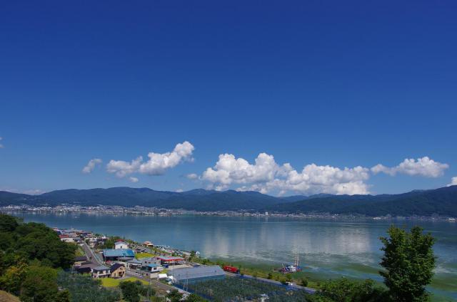 16快晴の諏訪湖
