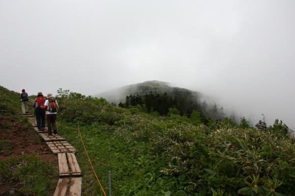 石森山頂直下