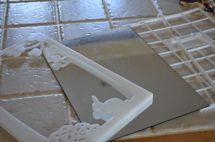 壁紙屋本舗さんのリフォーム 手作りフレームミラー