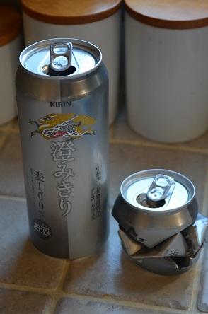 缶のつぶし方