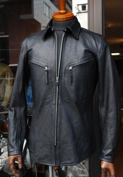 マックスフリッツ神戸 MFS-1731 ゴートレザーシャツ (メンズ)