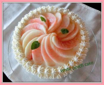 白桃のケーキ(1)