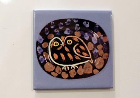 フクロウ磁石