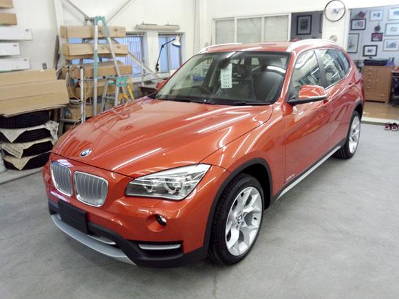 BMW X1(バレンシア・オレンジ・メタリック)@施工完了