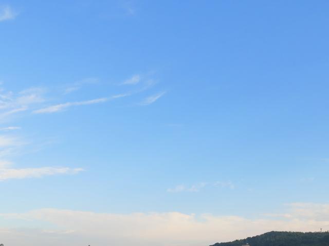 スッキリ澄んだ青空☆