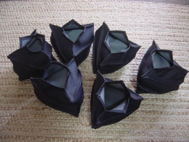 デニムの三角植木鉢