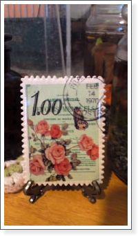 切手マグネット飾り