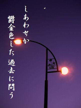 つきと街灯文字入り新