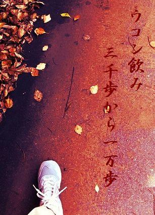 ウォーキング(秋)文字入新