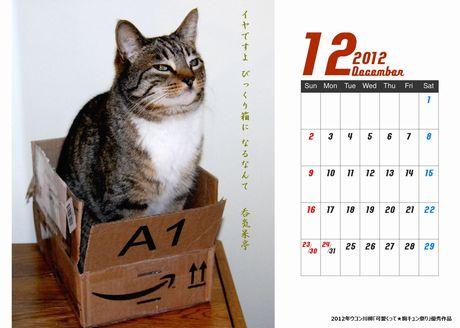 ネコと箱カレンダー新びっくり箱460