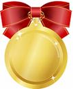 メダル赤小