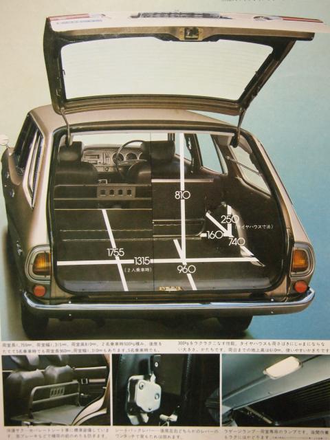 75年4月 マークⅡバン 積載量