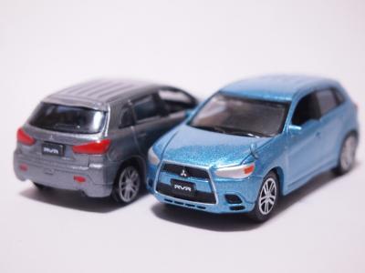 三菱RVR ブルー グレー