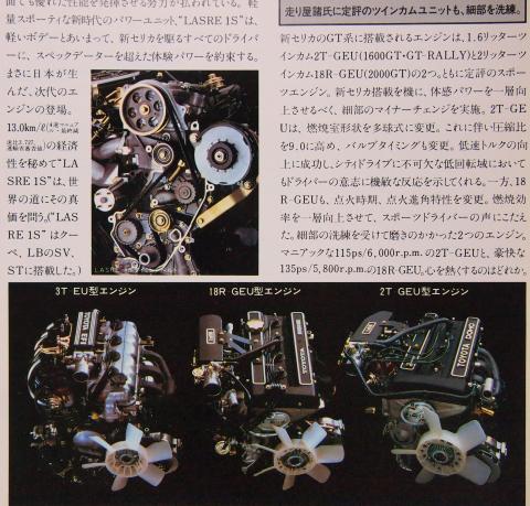 82年3月 セリカ エンジン