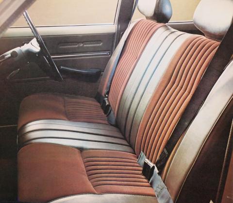 70年1月 コロナ1600DX フロントシート