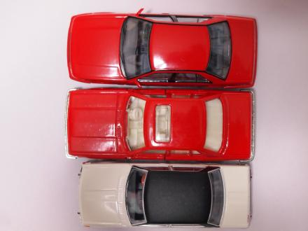 ブルーバード 3台 大きさ比較