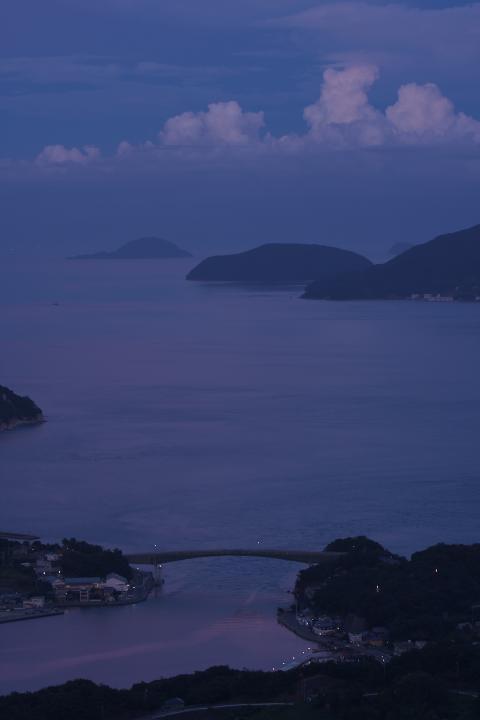 上盛山から夕暮展望