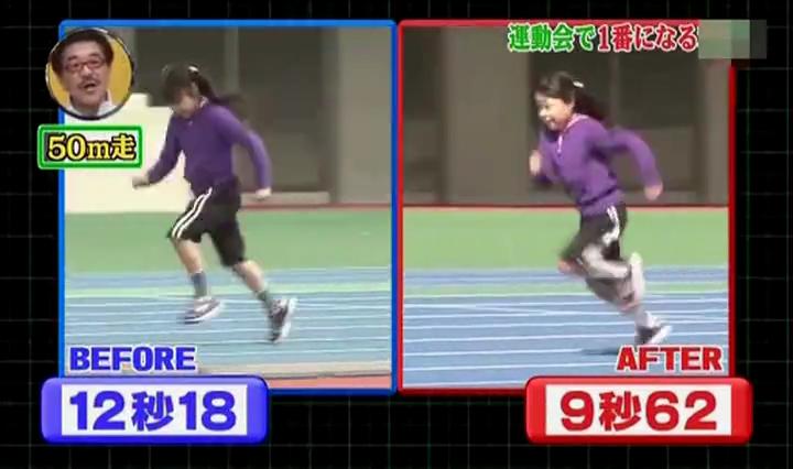 足が速く、小5女子12秒18→9秒62