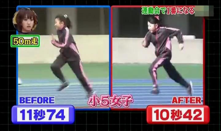 足が速く、小5女子11秒74→10秒42
