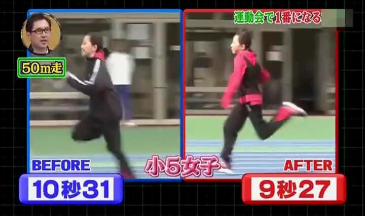 足が速く、小5女子10秒31→9秒27